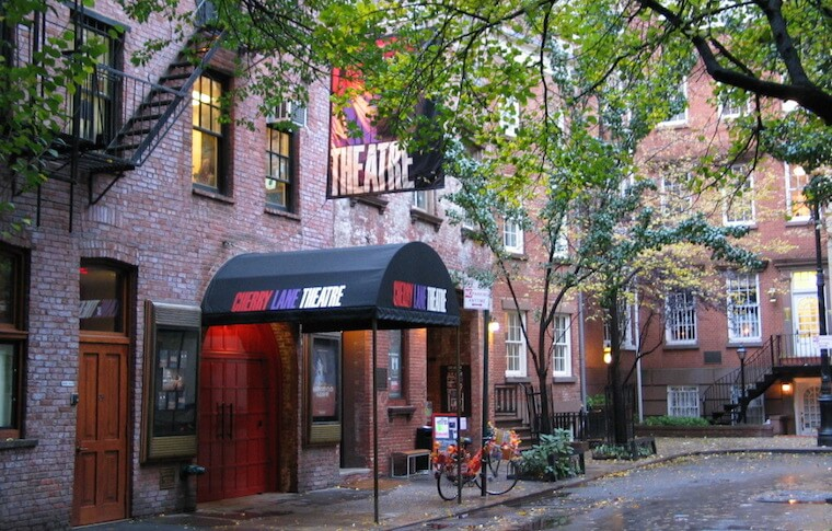 Street view of Cherry Lane Theater in Greenwich Village