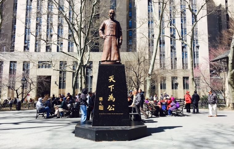 Statue of Sun Yat-sen in Columbus Park